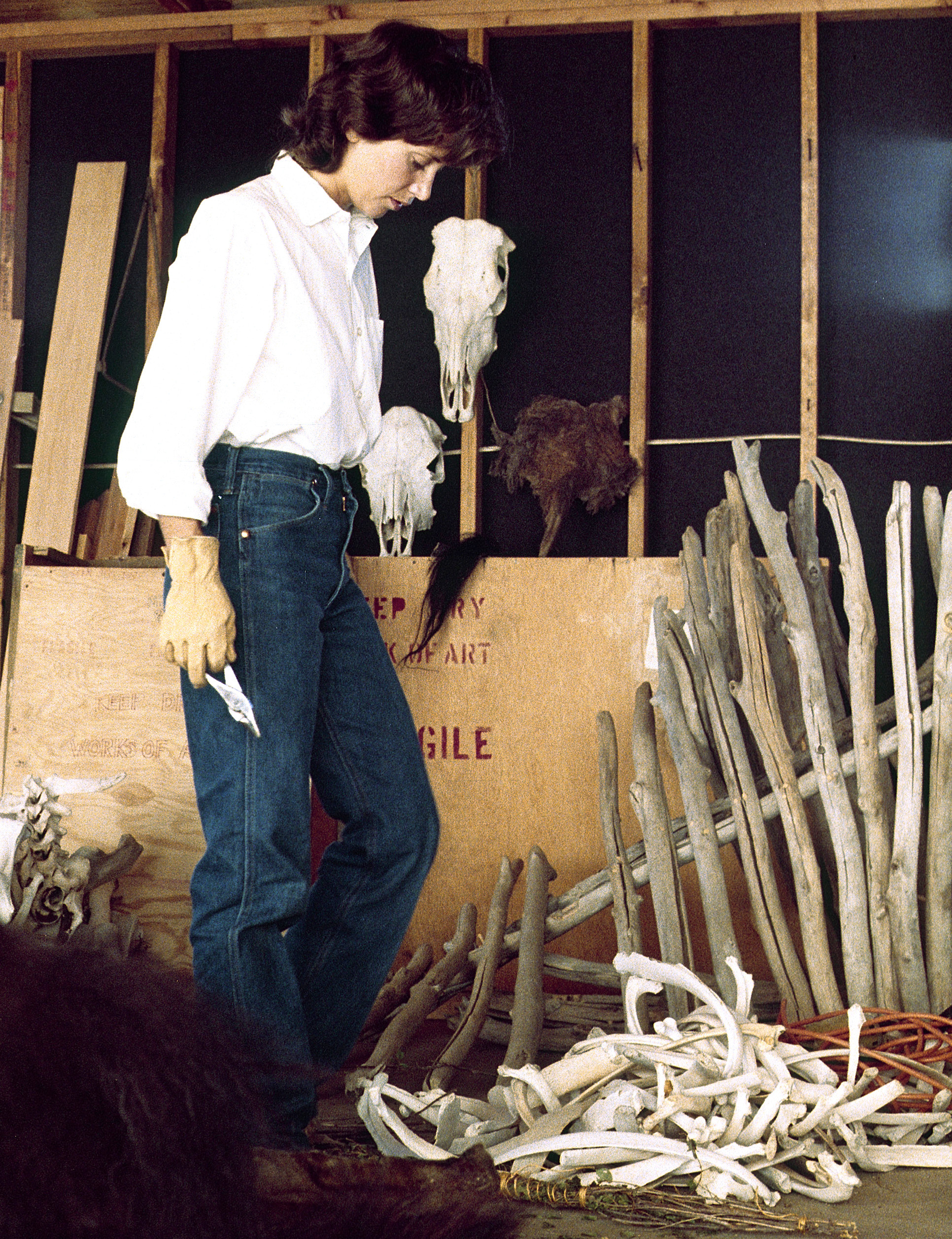 In the studio, Maple Leaf, South Dakota,1980