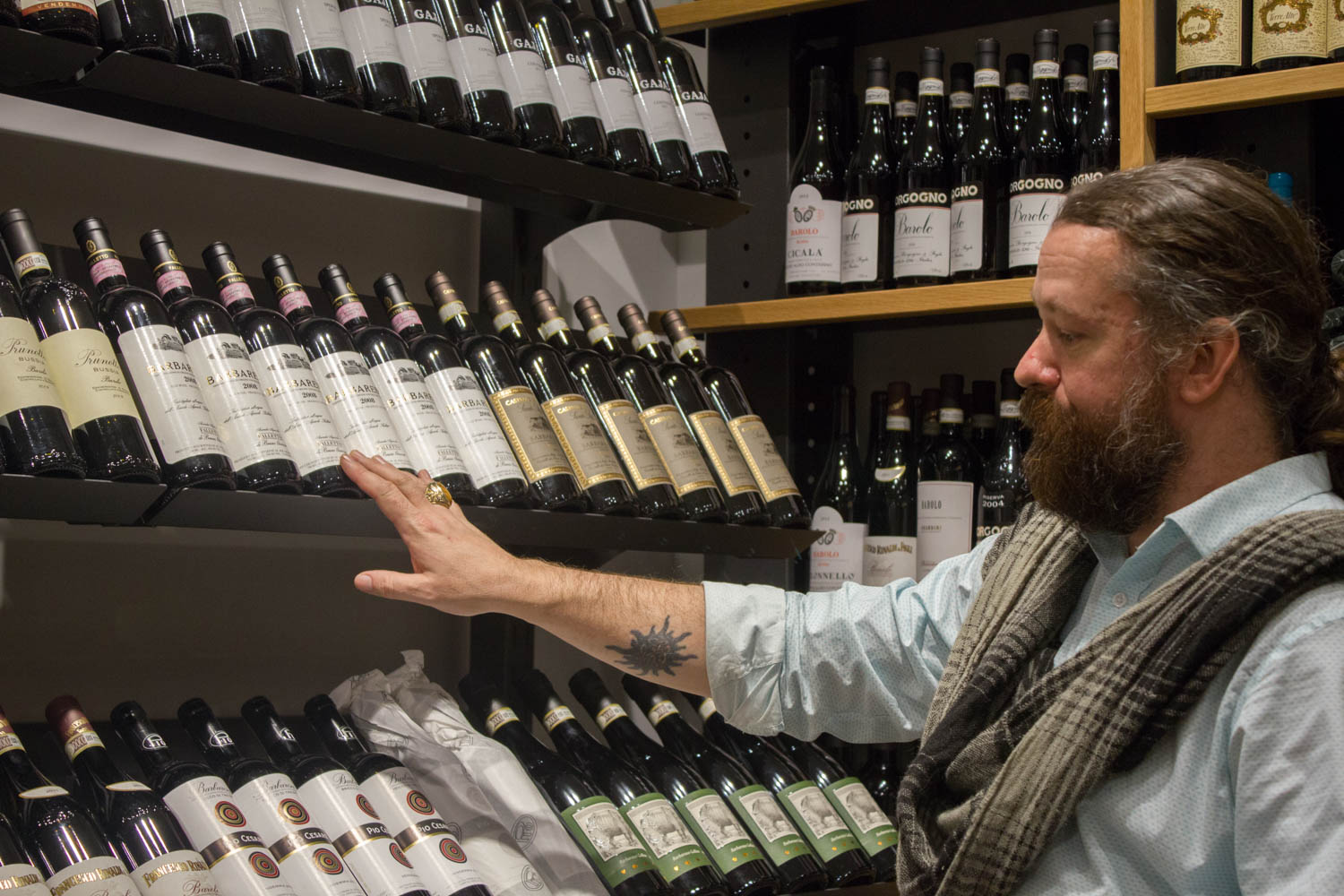 John McKusick, who works in Eataly's wine store and buys beer for the company, discusses what is available in the Reserve Room.