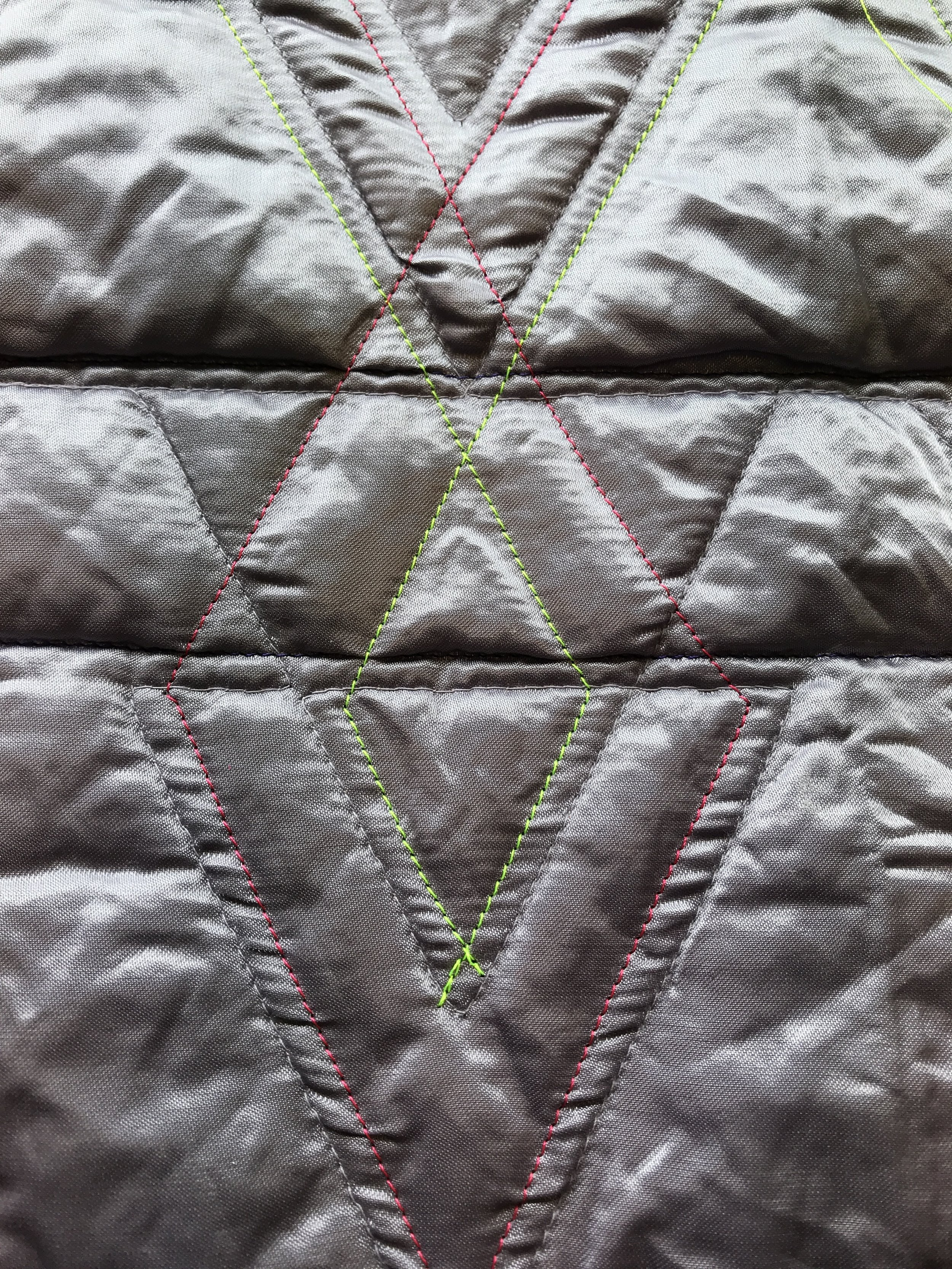 A quilted fabric, accentuated with effect thread (Samantha Schuck, MoFa Sigmaringen)