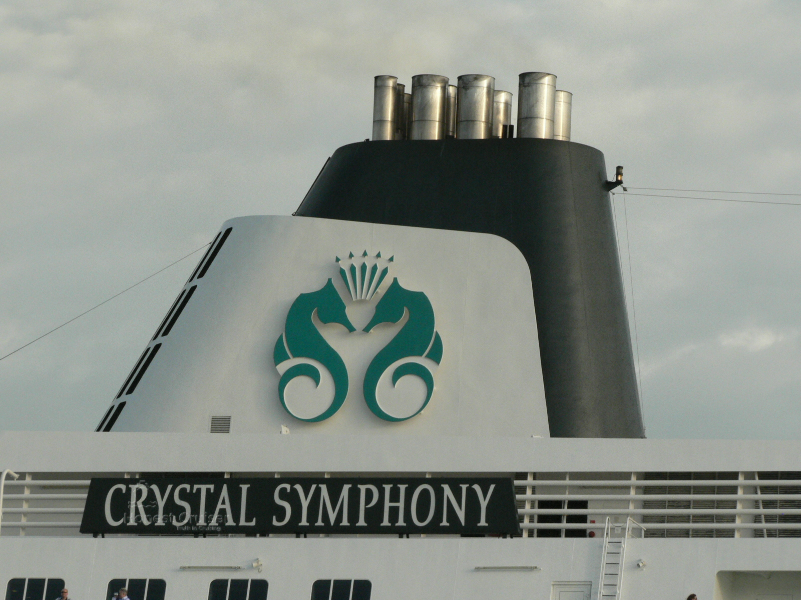 Crystal Symphony's funnel is of similar style to Amadea and a visible evolution.