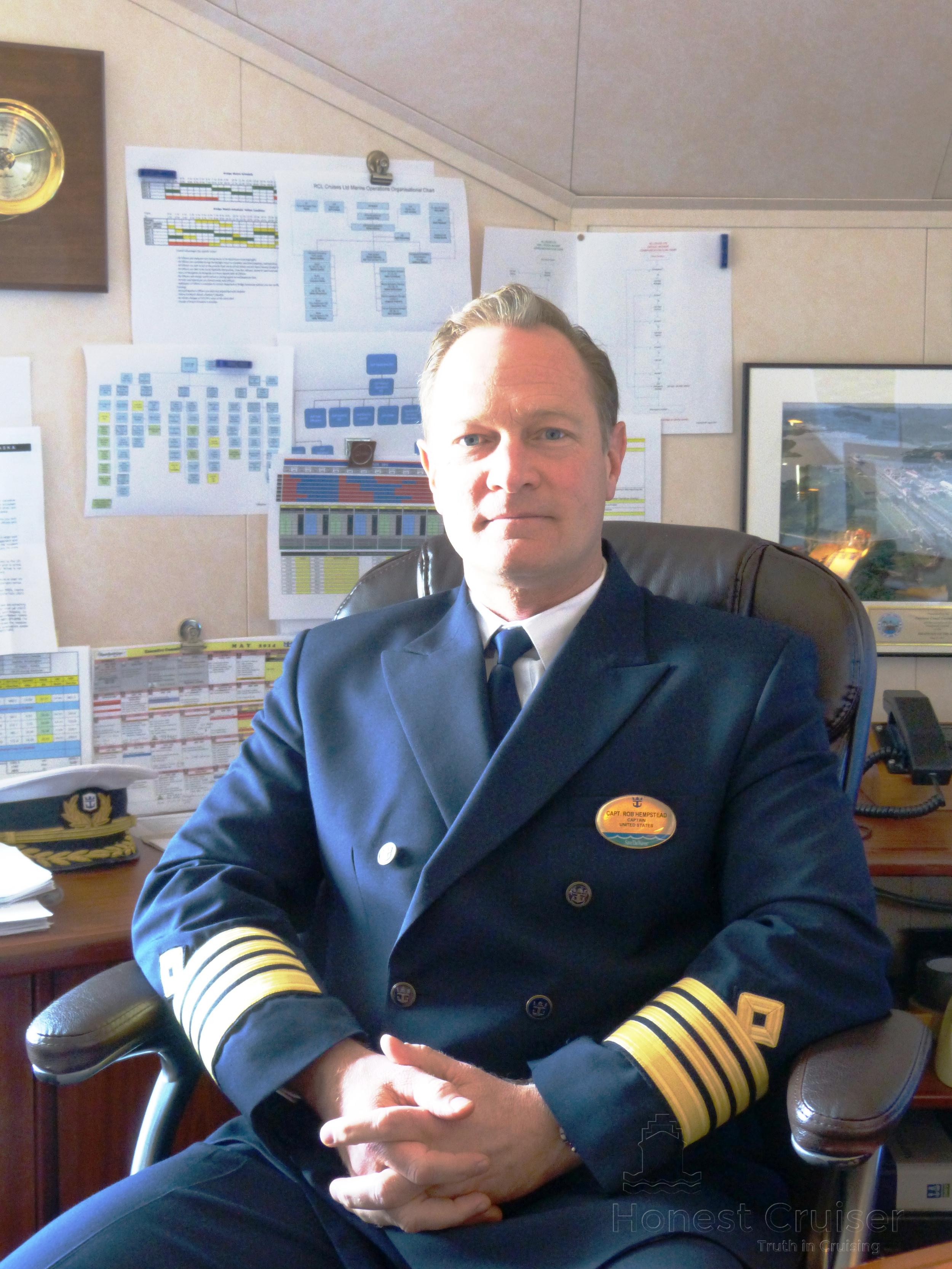 Captain Hempstead aboard Rhapsody of the Seas.