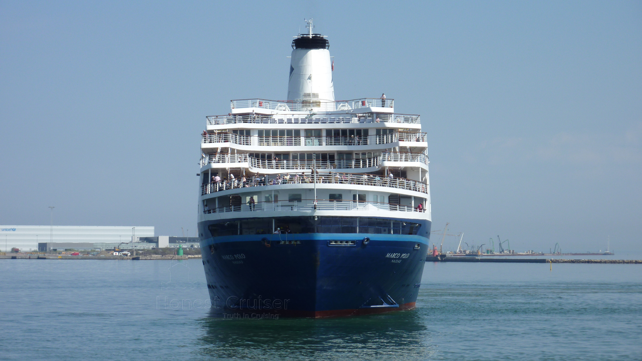 Stern view of Marco Polo