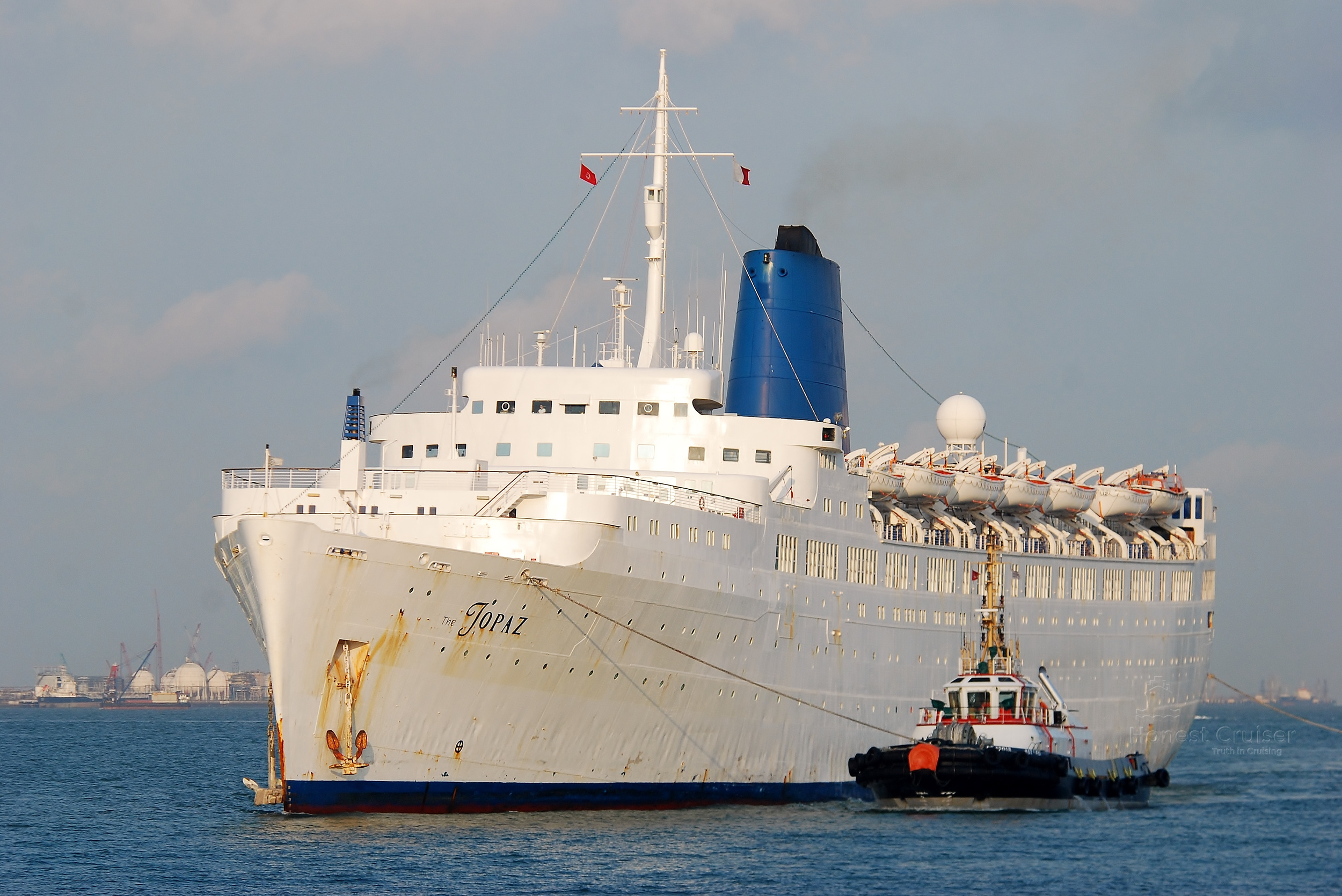 The Topaz (ex-Empress of Britain) - one of the departed.