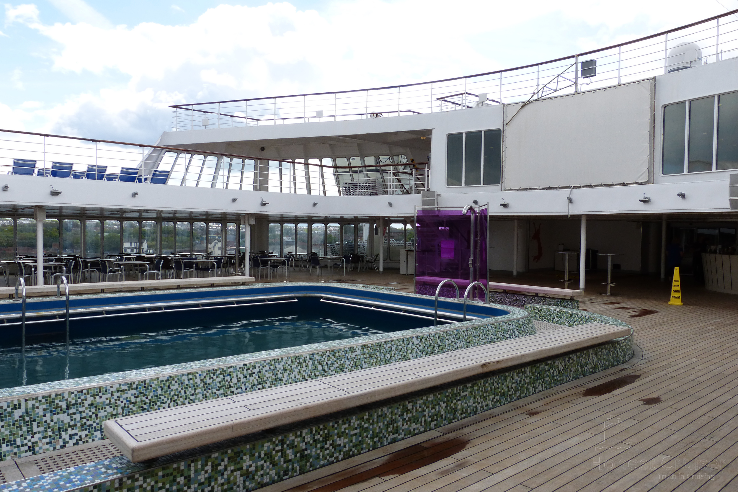 The heart of the ship, the main pool on deck 10.