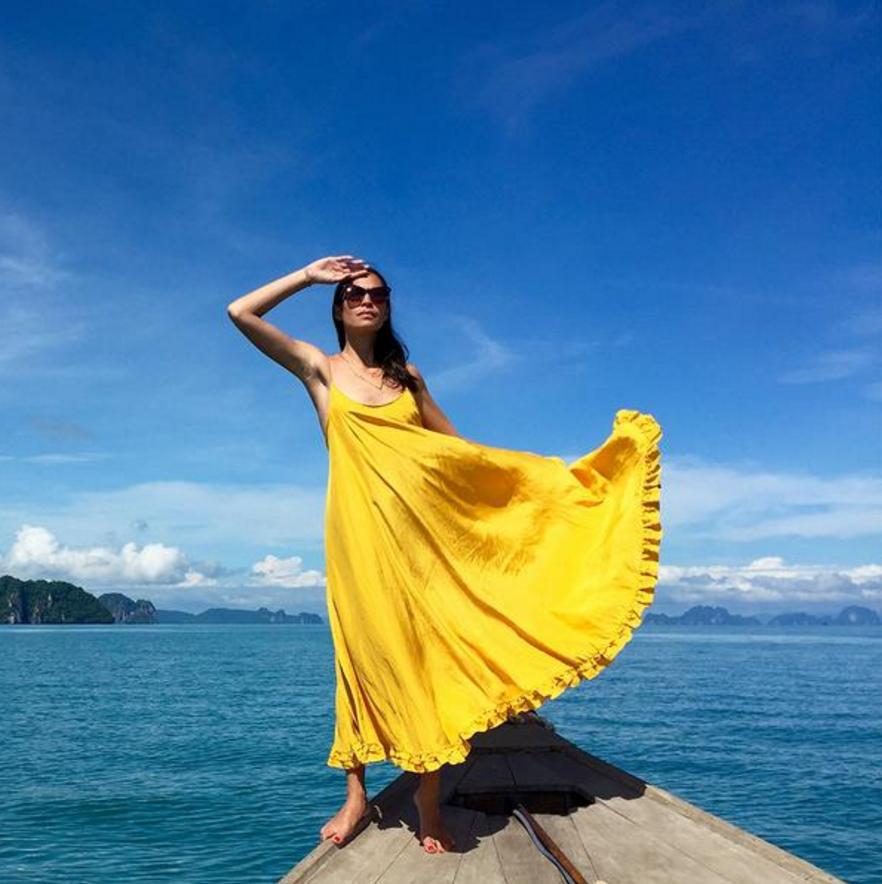 Rhode Resort Mara Silk Maxi Dress