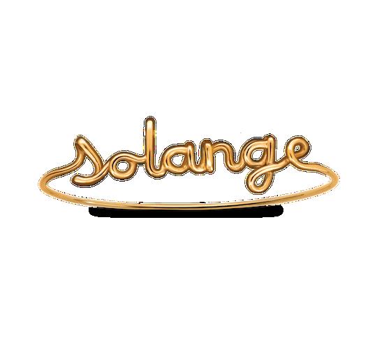 Custom gold Solange bracelet with child's name