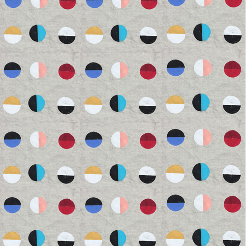 Fabric by the yard- Natural Moon Print - Large