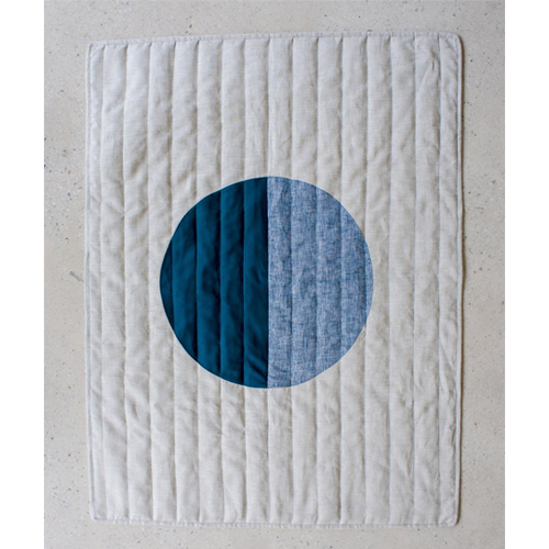Moon Baby Quilt - Indigo and Blue