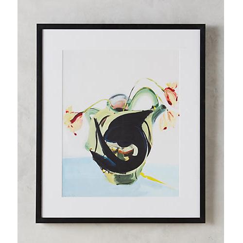 Fish And Vase Wall Art by Daniela Orlev for Artfully Walls