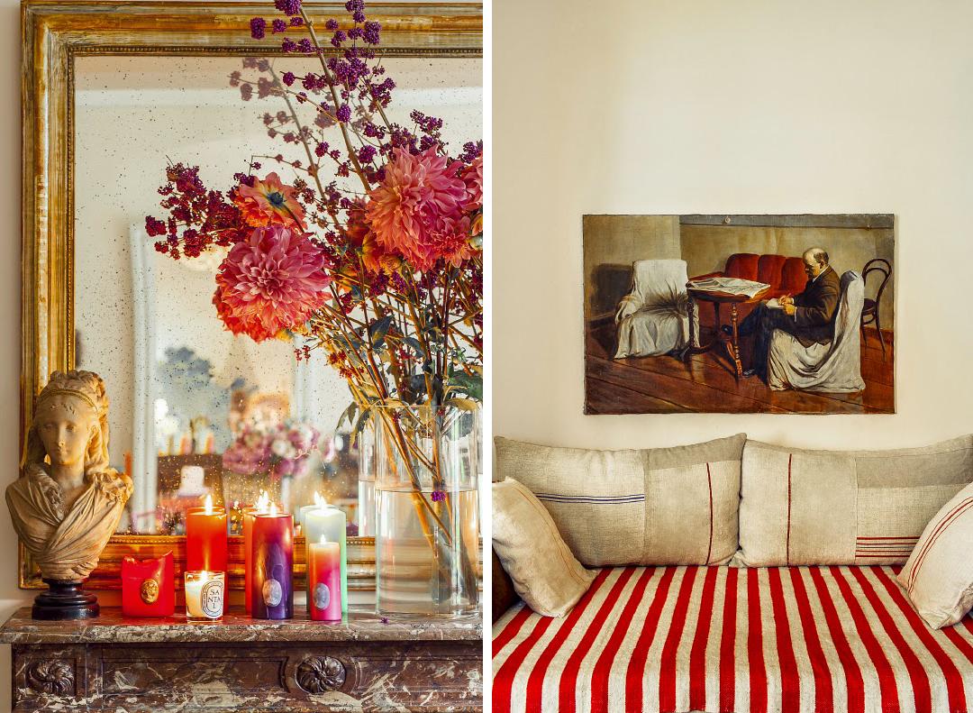 Ines de la Fressange 's Parisian home, as seen in  Vogue Paris .