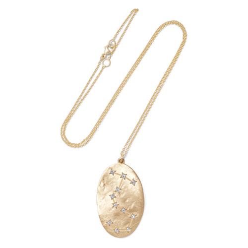 BROOKE GREGSON Scorpio 14-karat gold diamond necklace