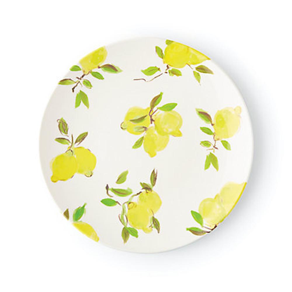 lemon melamine dinner plate