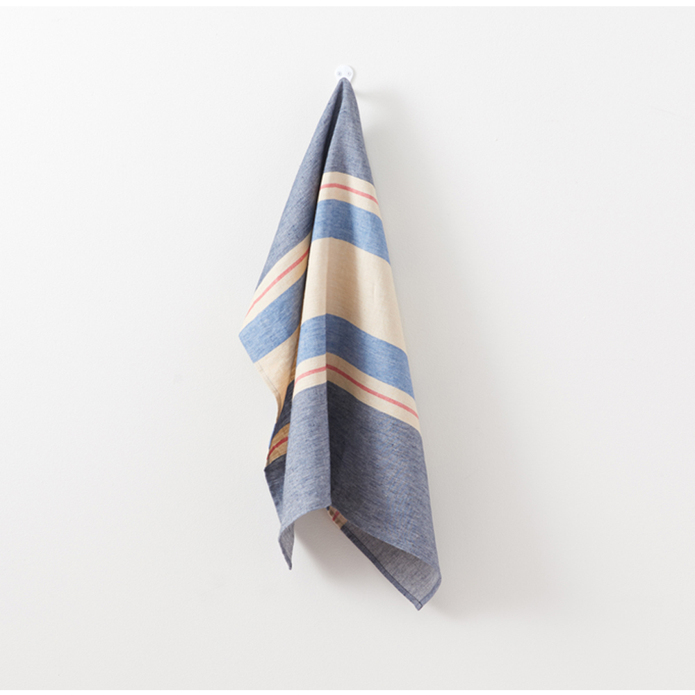 LIBECO CHILMARK NAVY KITCHEN TOWEL