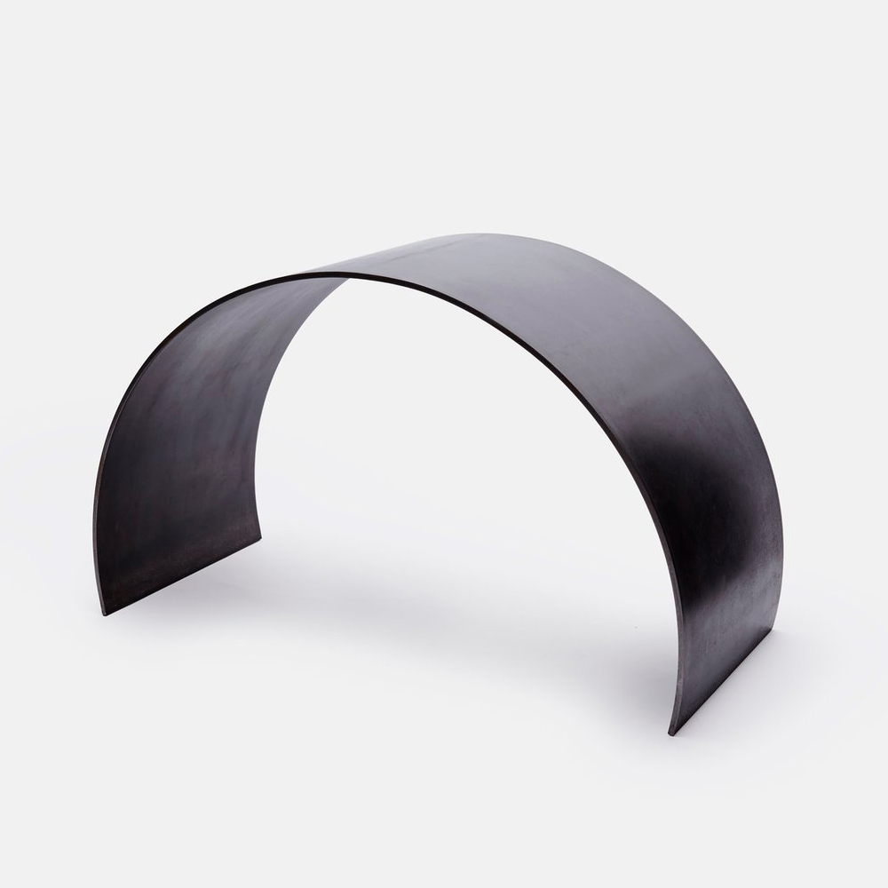 ASH Waxed Steel Curved Arc Stool
