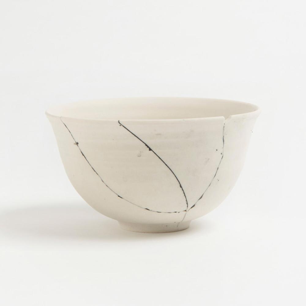 White Fracture Bowl No. 2 Unique Piece