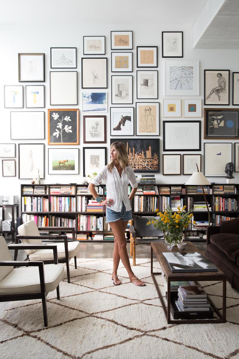 Designer Julia Leach in her stylish  Venice Beach home .