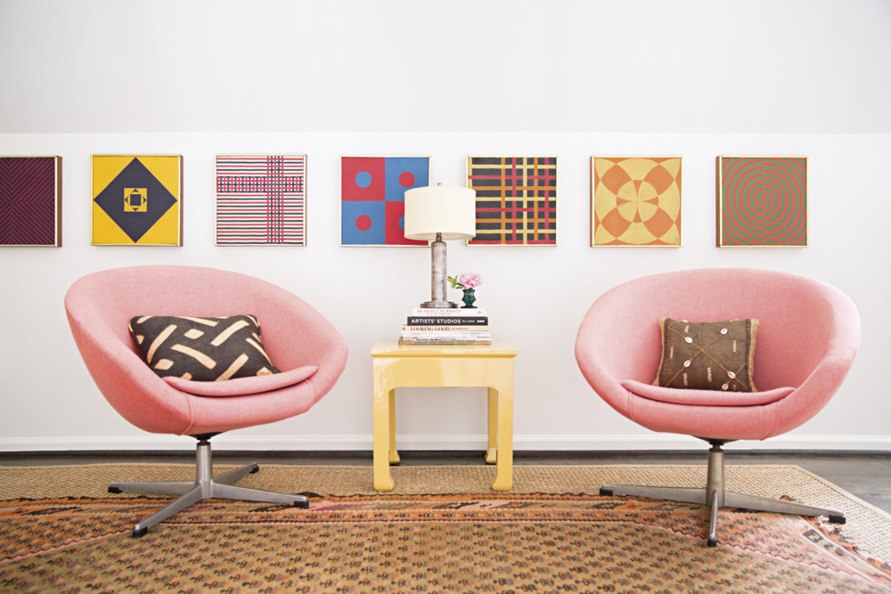 The office  of artist  Sally King Benedict . Photo by  Brittany Ambridge  for  Domino .