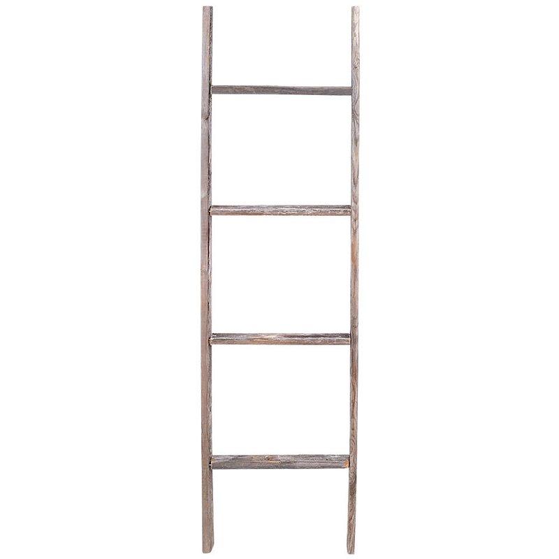 "Rustic Wood 12"" W x 48"" H Decorative Ladder"