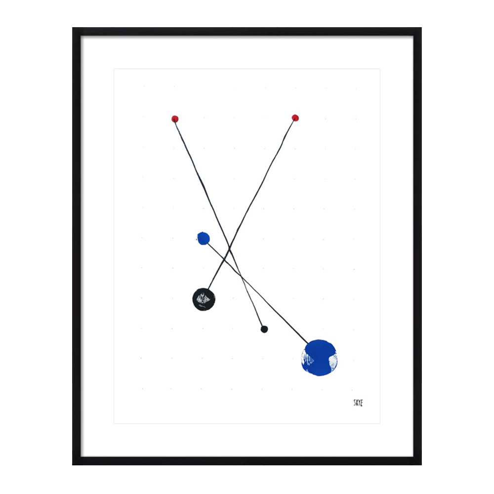 2 black 2 red 2 blue by Skye Schuchman