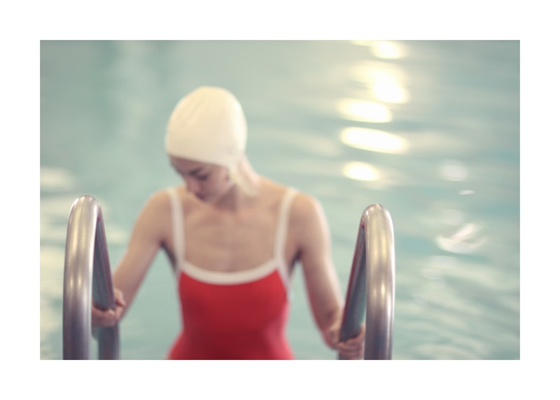 Swimmer in a Red Suit by Lucy Snowe