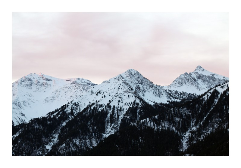 Pink Sky and Mountains in the morning by Lucy Snowe