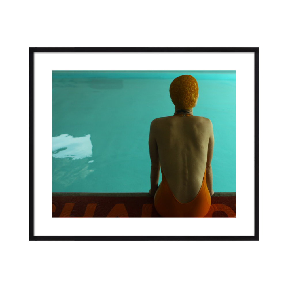 Amy sitting by the pool. by Lucy Snowe