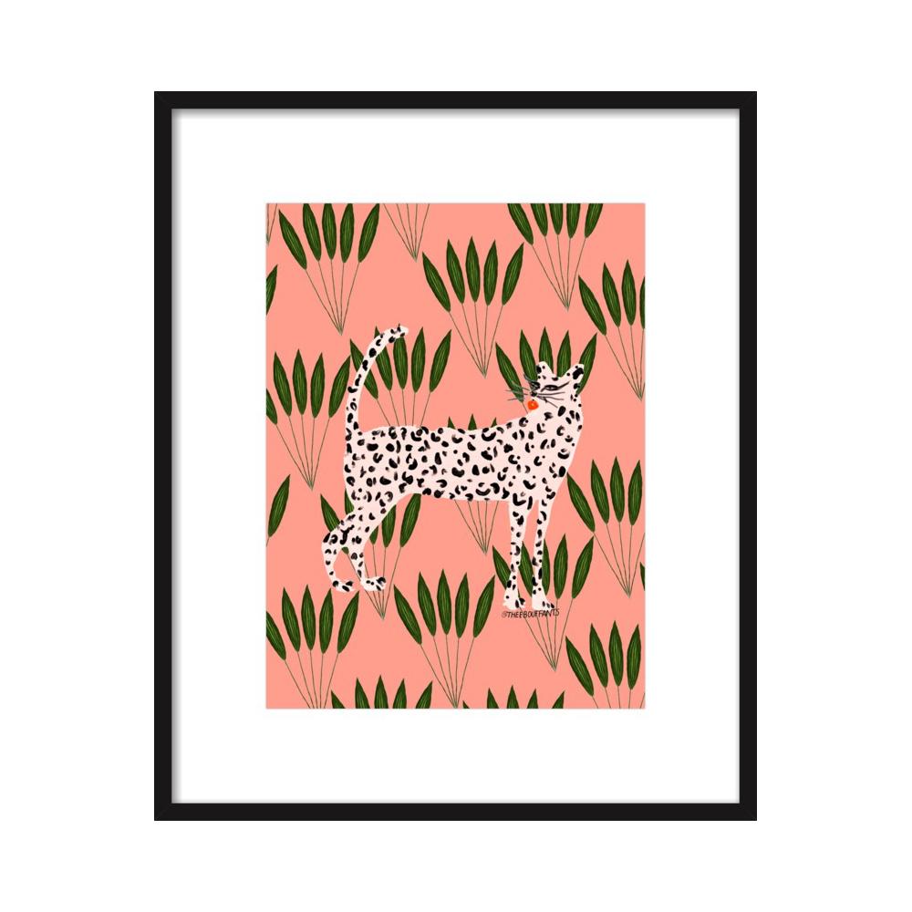 Cheetah On Leaves by Kendra Dandy