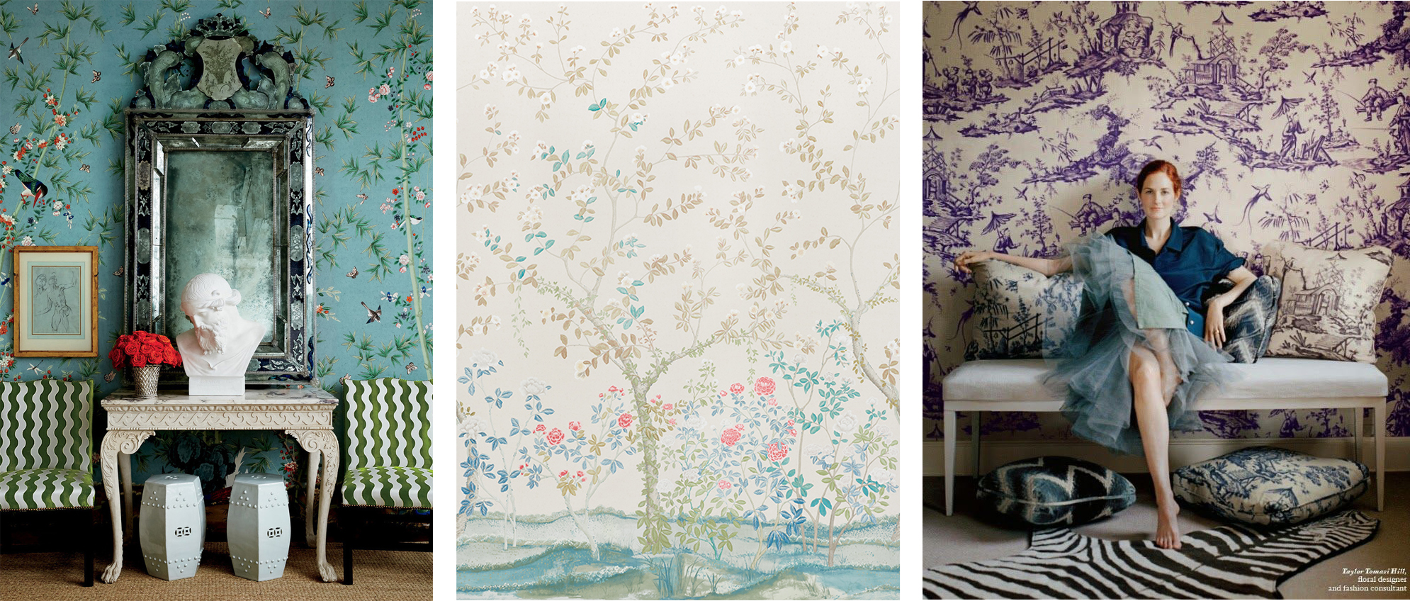 (From left to right)  Brighton Pavillion ,  Madame De Pompadour , and  Shengyou Toile .