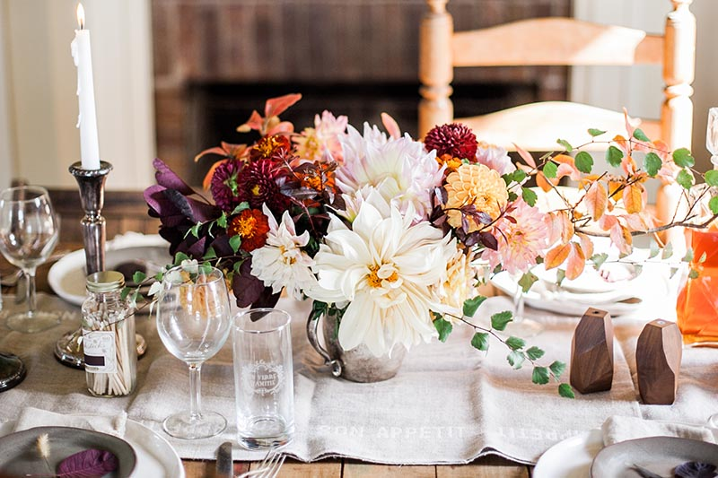A Nashville Thanksgiving Tablescape  by  Elizabeth Ulrich for  Design*Sponge . Photography by  Catherine Truman Photography .