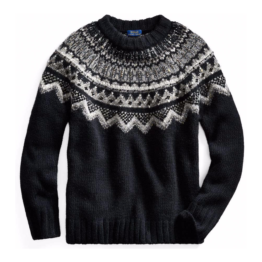 Beaded Nordic Sweater