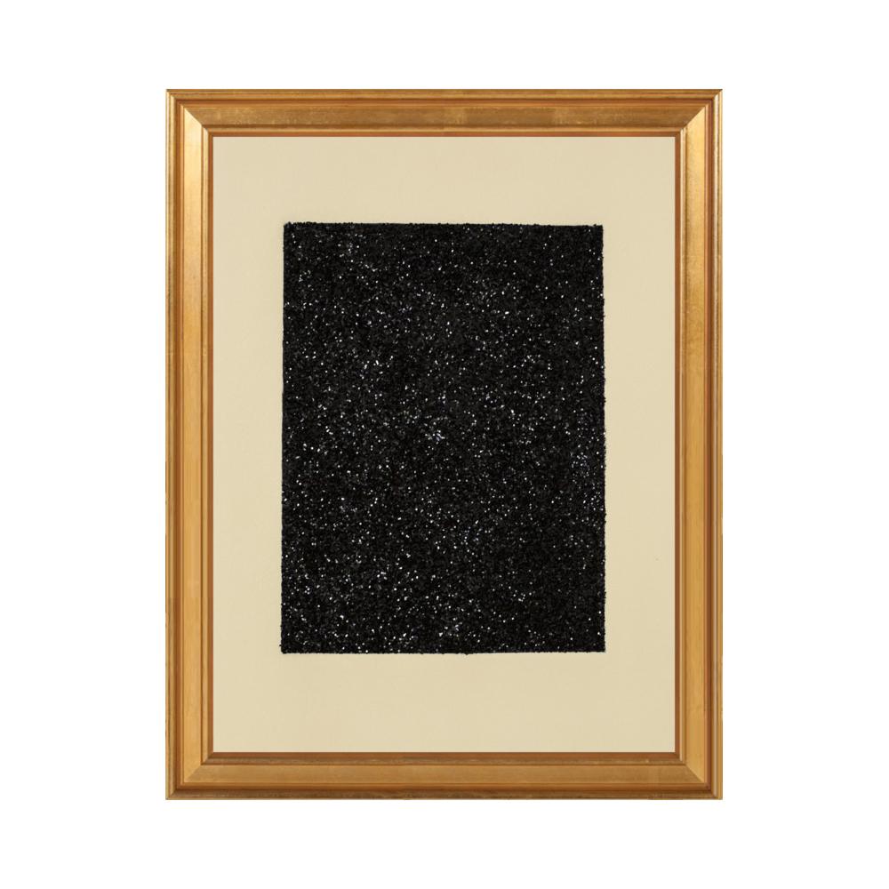 Black Glitter Etching by Anna Ullman