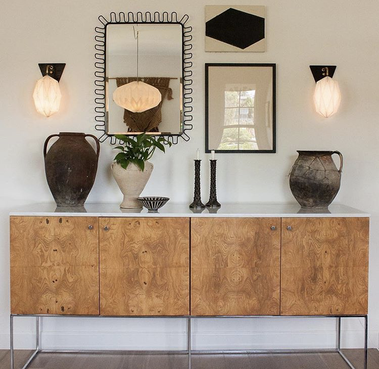 A perfect arrangement of art and objects, found at  The California Workshop . Photo by  Nina Freudenberger .