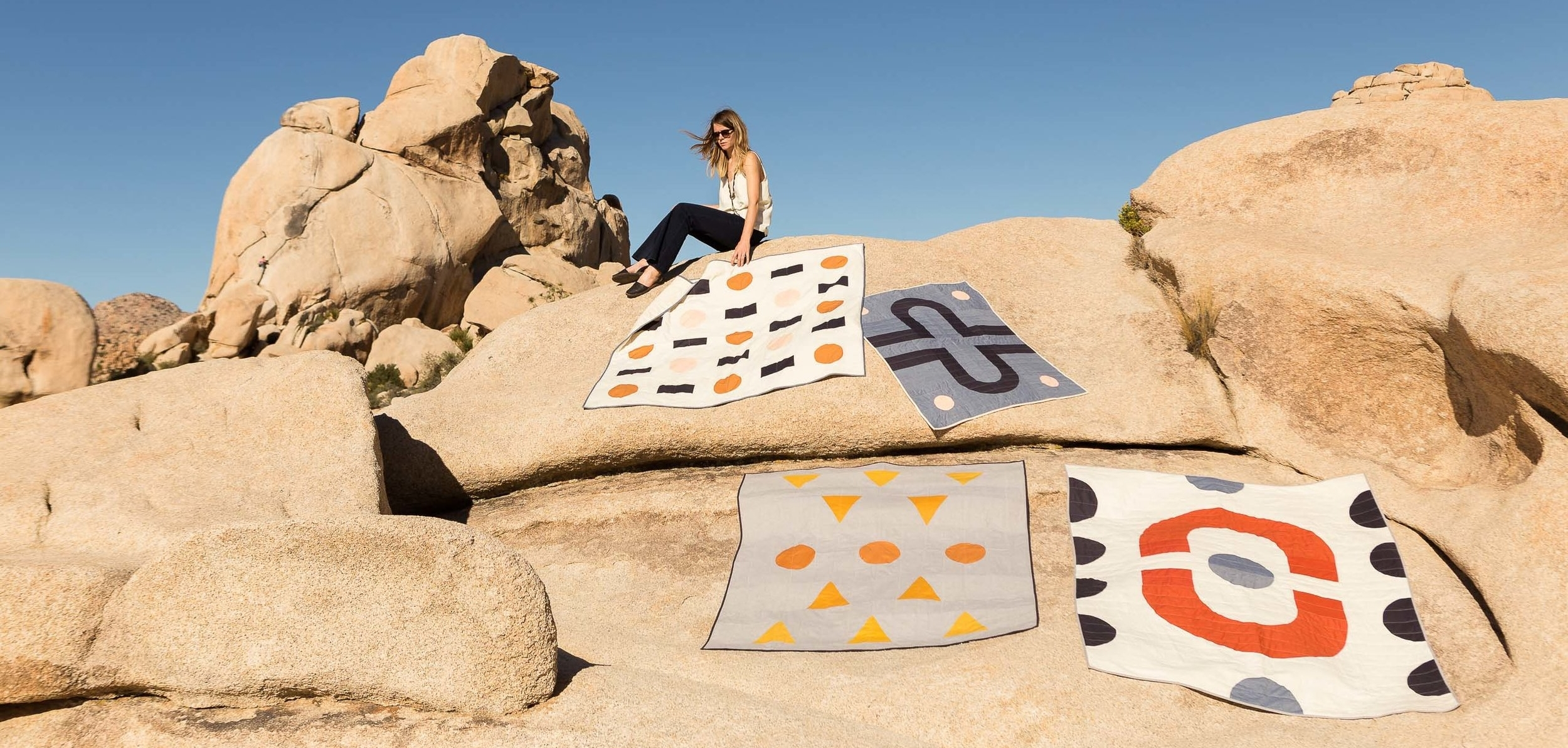 One of a kind quilts, handmade in an Airstream studio by  Vacilando Quilting Company .