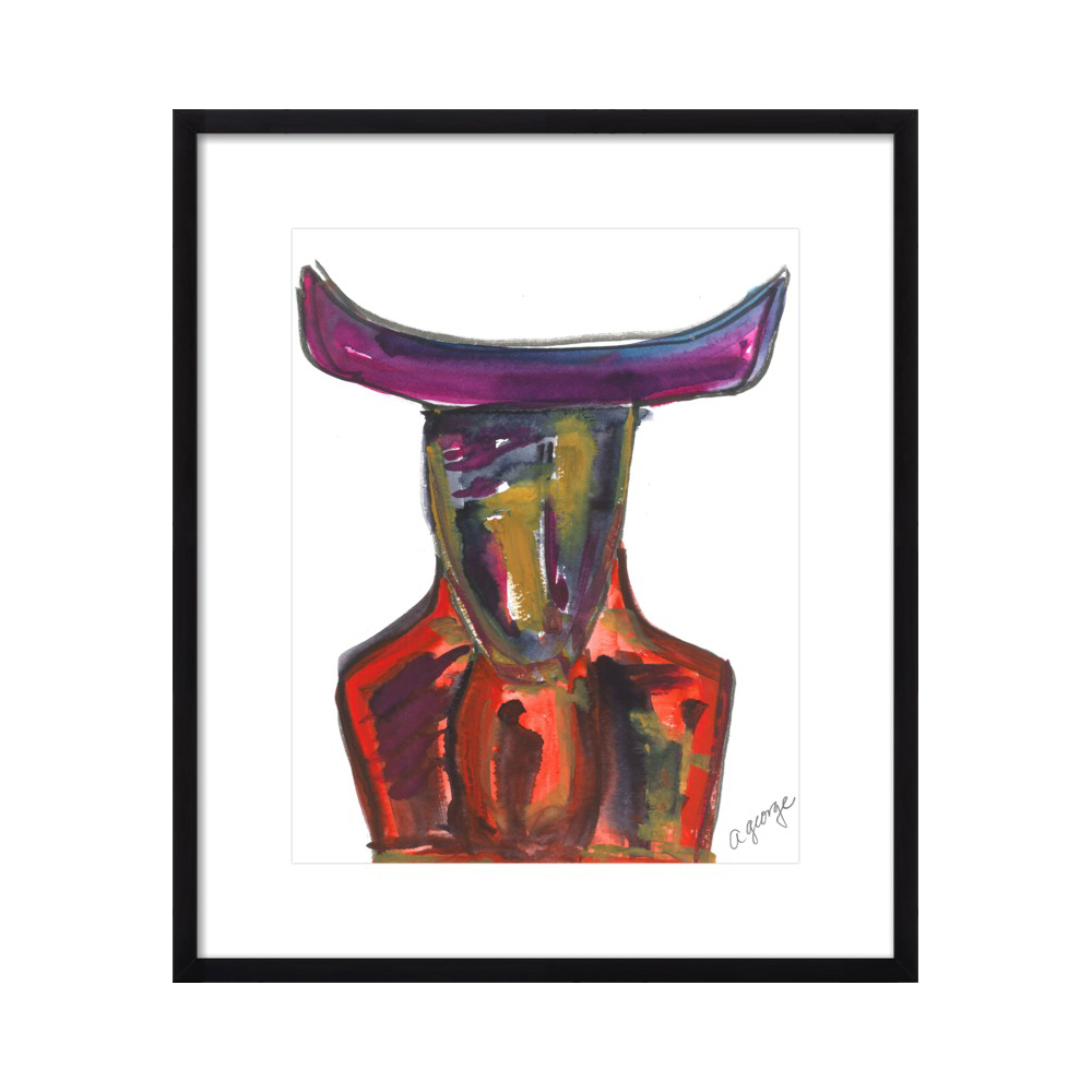 Abstract Bull by Anthony George