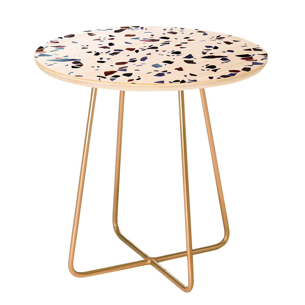 Autumnal Terrazzo Texture Side Table