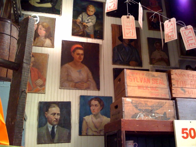 Vintage portraits at  Fishes Eddy .