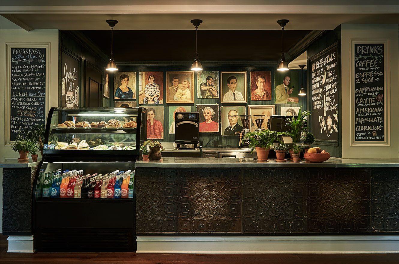 The  Graduate hotel  coffee bar in Ann Arbor, Michigan.