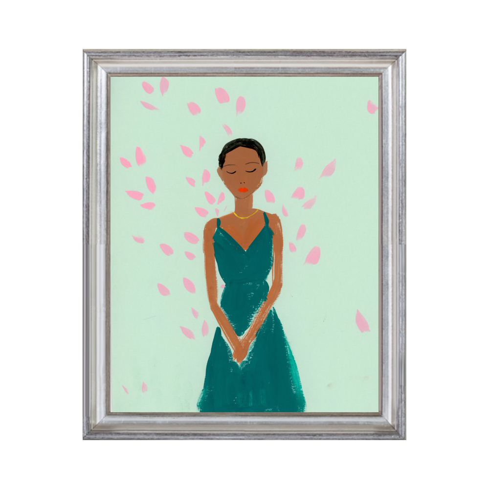 Girl with Pink Blossoms by KT Smail