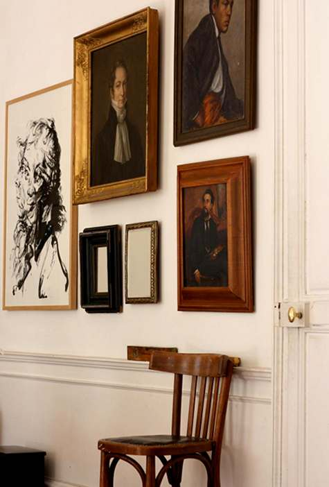 The Parisian home of  Gabriel Wick and Olivier , as seen on  Design Sponge .