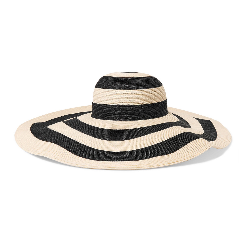 EUGENIA KIM Sunny striped paper-blend sunhat