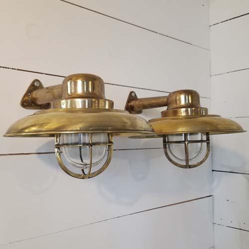 Vintage bronze capped nautical sconces
