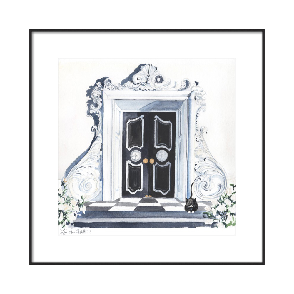 Dorothy Draper's Door  BY LYDIA MARIE ELIZABETH