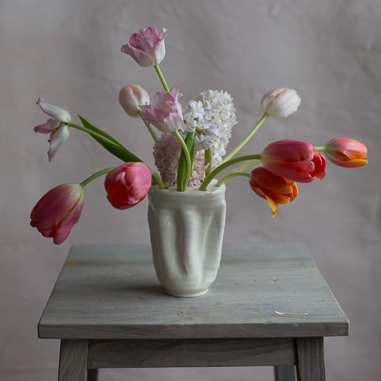 Earthenware 10-hole Tulipiere