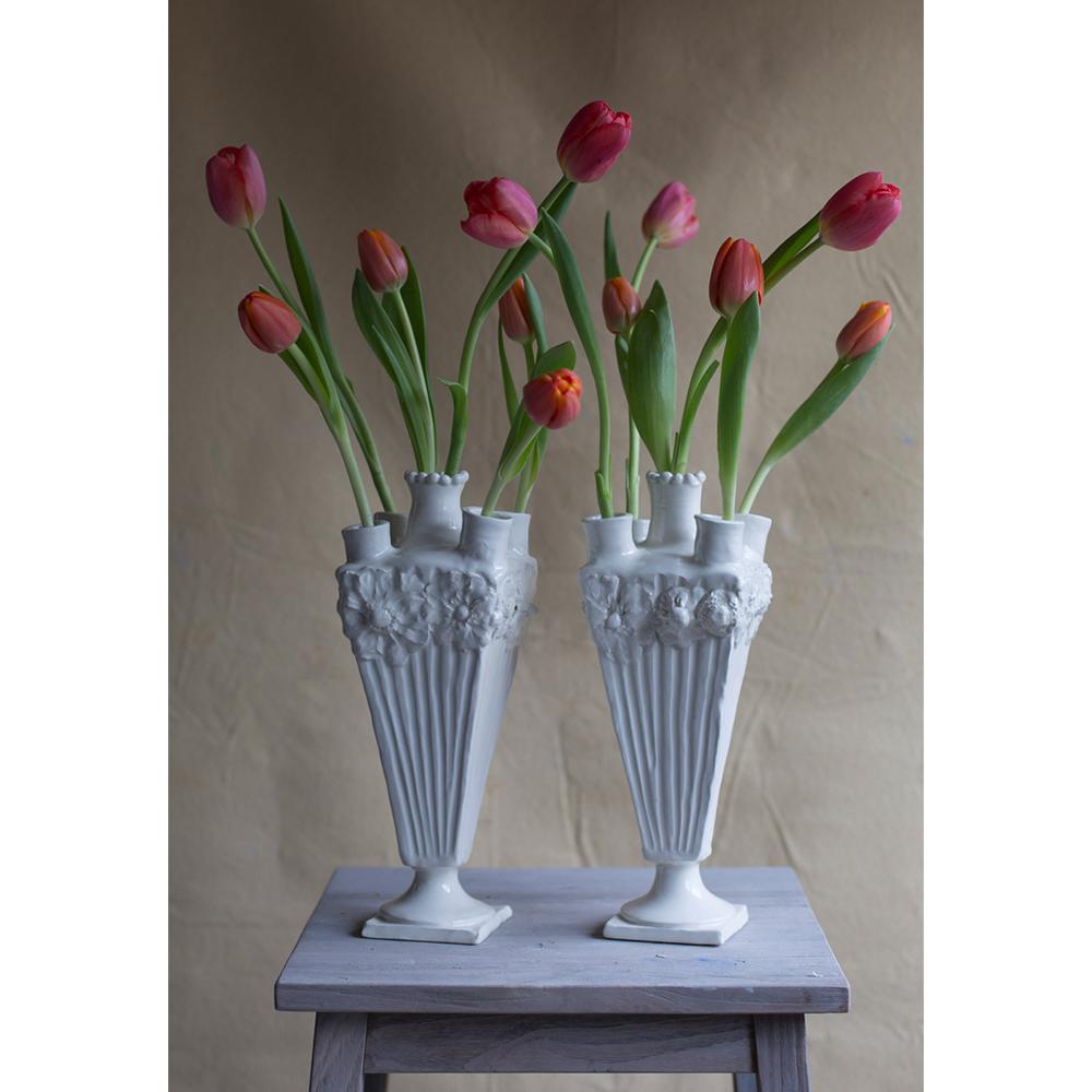 Frances Palmer Floral Square Tulipiere