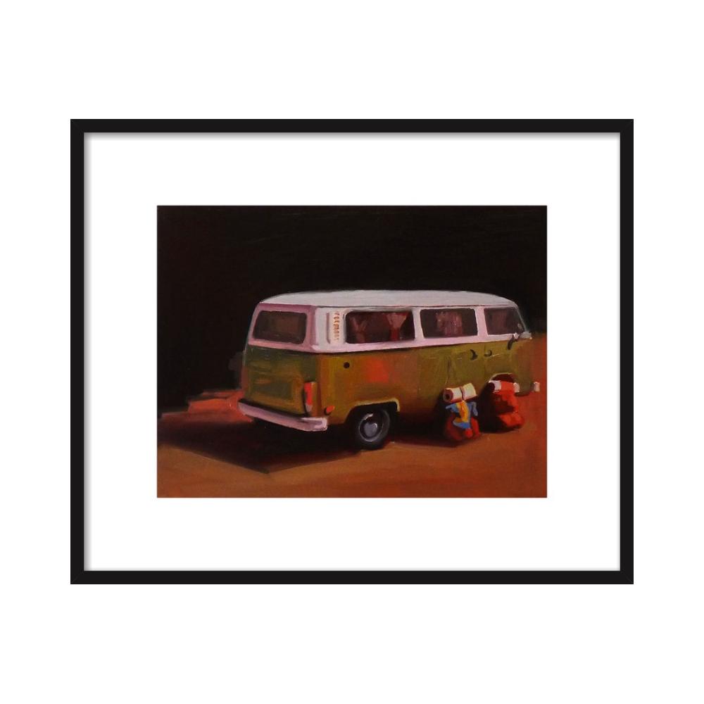 hippie van  BY MARY SINNER