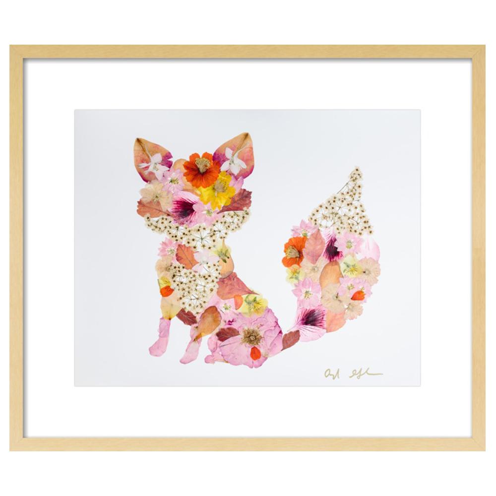 Pressed Flower Fox  BY AYLA GRAHAM