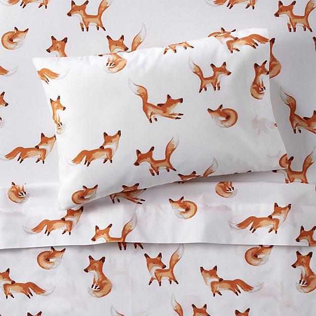 Organic Fox Toddler Sheet Set