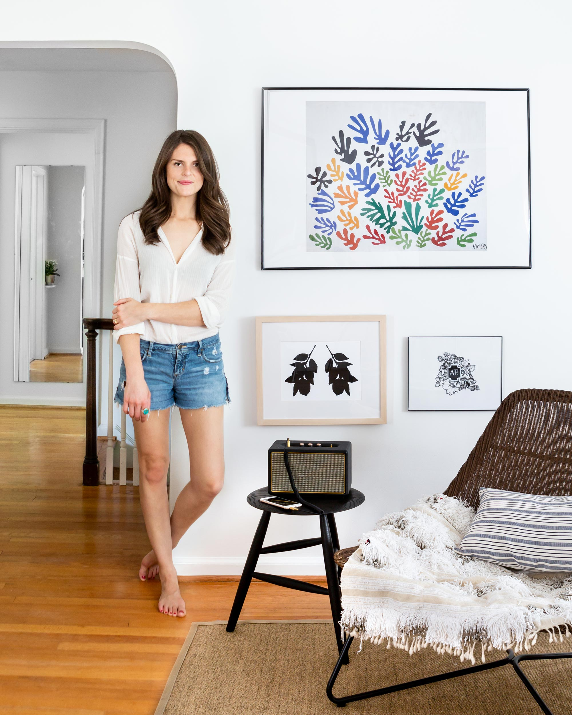 Artist  Emily Schoen , as photographed by  Marta Perez  for  The Everygirl .
