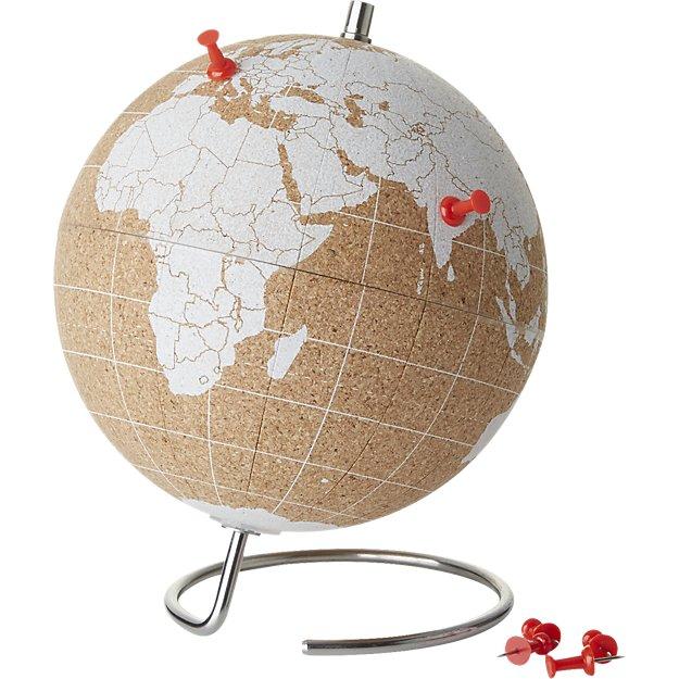small white cork globe