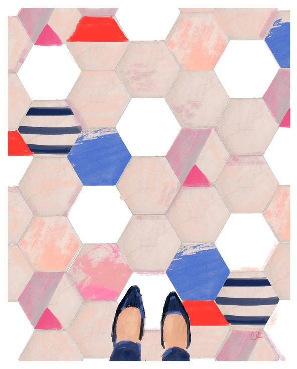 Artist  Cat Seto 's homage to the Instagram trend, titled   Tiles in Paris  .